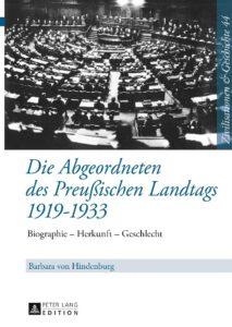 Die Abgeordneten des Preußischen Landtags 1919-1933