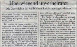 Rezension in der Frankfurter Allgemeinen Zeitung